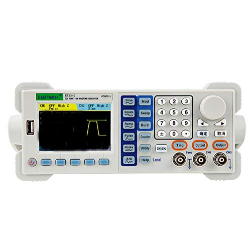 Signal Generator Counter Two-Channel Function/Arbitrary Waveform Generator, ET3340 40MHZ 200-240V Waveform Generator Precision Testing Instrument
