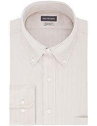 Men's Pinpoint Regular Fit Stripe Button Down Collar...