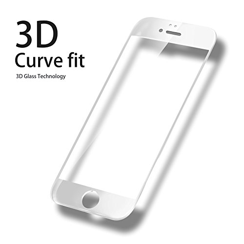 D&P 3D Original Curve Fit Series Tempered Glass Screen Protector and Backside Protector, White