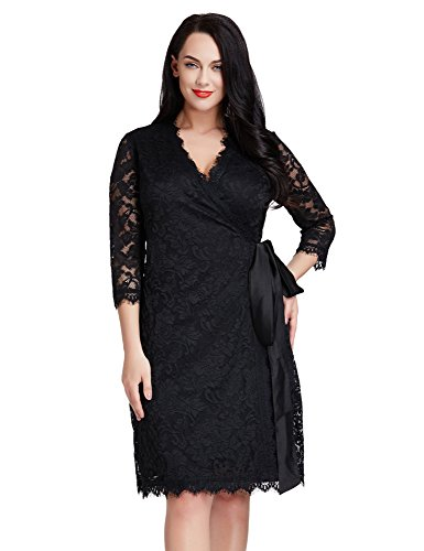 Amazon Lookbook Store Womens Plus Size Lace 34 Sleeves Formal