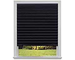 When a good night's sleep is all you need, sometimes the most beautiful color is a perfectly dark room. That is exactly what you get when you remove 99% of light with Redi Shade's Original Blackout Shade. Trim this pleated shade at home for a...