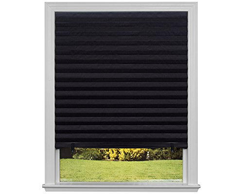 Black Roller Shade - Original Blackout Pleated Paper Shade Black, 36