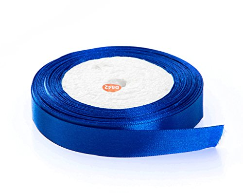 Solid Color Satin Fabric Ribbon (Royal Blue, 3/8