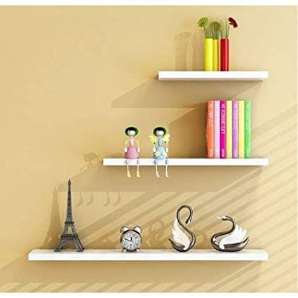 TANBURO Set of 3 Floating Wall Mount Shelves Modern Decorative Display  Ledges for Bedroom,Living Room,Kitchen,Office and More,42/32/22CM