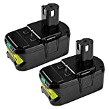 Energup 2Pack 5.0Ah 18V Replacement Battery for Ryobi 18V Lithium Battery P102 P103 P105 P107 P108 P109 Ryobi ONE+ Cordless Tool