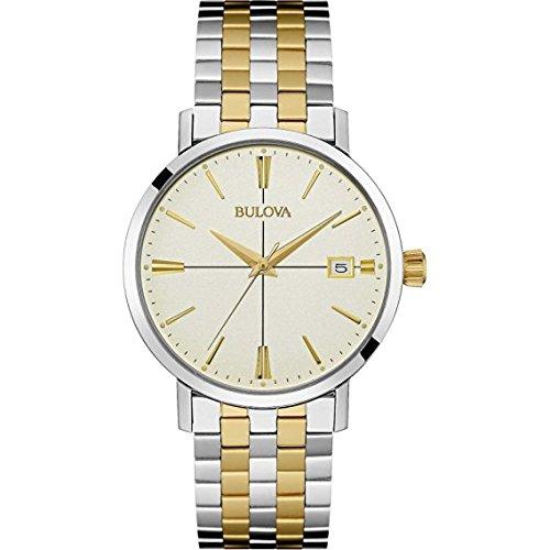 Bulova - 98B255 Two Tone Gold Bracelet (Bracelet Two Tone Calendar)
