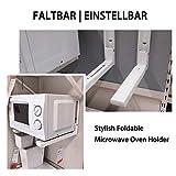 Floating Microwave Holder Folding Shelf Brackets