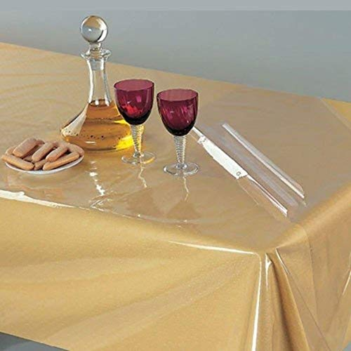 CASA NEST 4 Seater Table Cover Transparent Without LACE,Rectangular