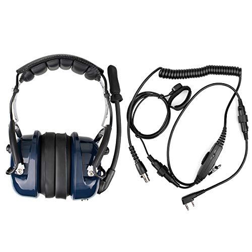 2 way radio noise cancelling headset