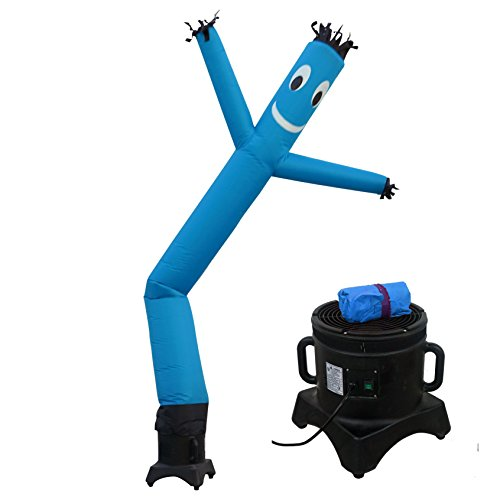 MOUNTO 10ft Air Puppet Dancer with blower Complete Set, 10-Feet (Blue) - Air Dancer With Blower