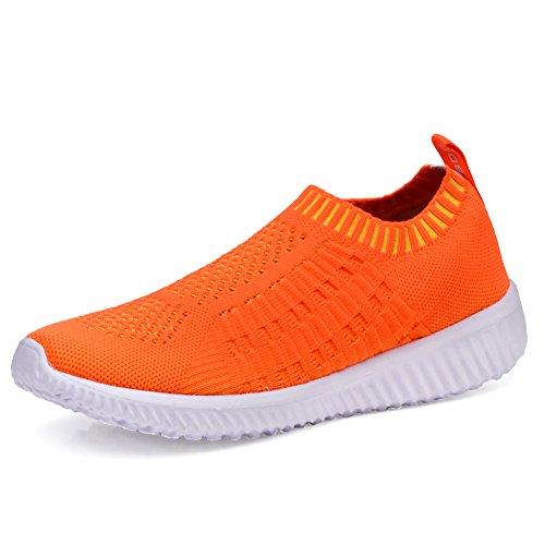 - TIOSEBON Women's Athletic Walking Shoes Casual Mesh-Comfortable Work Sneakers 9 US Orange