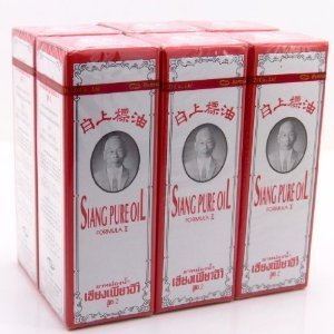 6 X 25 Cc. Siang Flawless Peppermint Menthol Oil Aroma Relieve Dizziness White Formu Made in Thailand