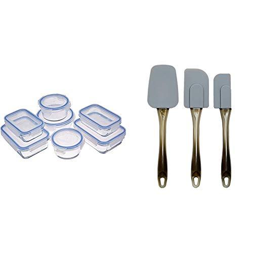 🥇 AmazonBasics – Recipientes de cristal para alimentos