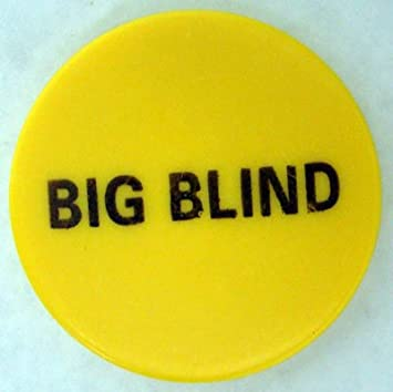 Amazon Com 2 Yellow Ceramic Big Blind Poker Button By
