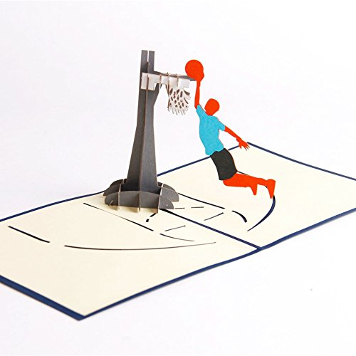 Paper Spiritz Pop up Dunk Basketball Greeting Card for Son