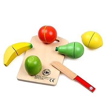 Youmiya Kinder Küche Spielzeug Holz Obst Gemüse Schneiden Kinder Play House  Familie Spiel Speisen Toys Fruit