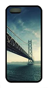 Long Bridge TPU Case Cover For iPhone 5 and iPhone 5S Black