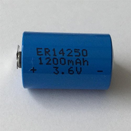 100ea ER14250 1.2A 1/2AA 3.6V SOCI2 lithium battery with two pins for PCBA for 8-10years