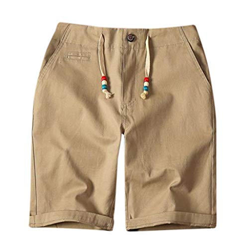 7ad56484e4e5 2019 Mens Jogger Shorts, Men's Fashion Short Pants Summer Casual Print  Pocket Drawstring Cotton Linen