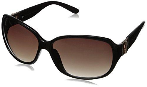Adrienne Vittadini Women's AV1009-001 Buckle Hinge Square Sunglasses, Black, 61 - Vittadini Sunglasses Adrienne