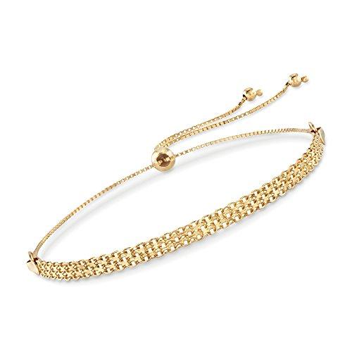 Ross-Simons 14kt Yellow Gold Bismark Bolo Bracelet ()