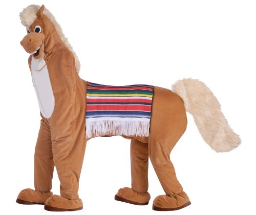 Two Man Costume (Forum Novelties Men's Two Man Horse Adult Costume, Brown, Standard)