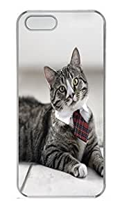 Brian For SamSung Galaxy S5 Mini Phone Case Cover - Fashion Style Cat With Tie Clear PC Hard For SamSung Galaxy S5 Mini Phone Case Cover Kimberly Kurzendoerfer
