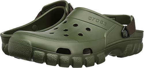 Crocs Offroad Sport Clog,  Army Green/Espresso, 7 US Men/ 9 US Women M US (Croc Embossed Olive Green)