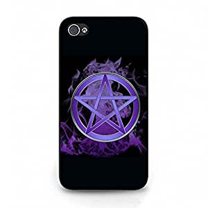 Iphone 4 4s Phone Case, Pentagram and Pentacle Pattern Custom Durable Snap on Case for Iphone 4 4s