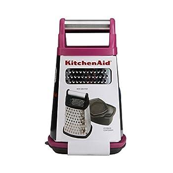 Kitchenaid Kn300ospma Gourmet Stainless Steel Box Grater, Pomegranate 3
