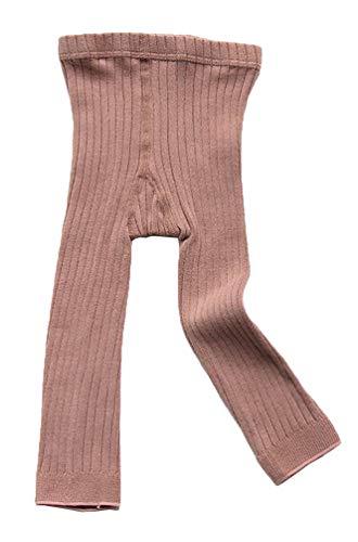 EachEver Toddler Baby Girls Basic Ribbed Leggings Footless Knitted Tights Dress Bottom Pants Pink 1-3T
