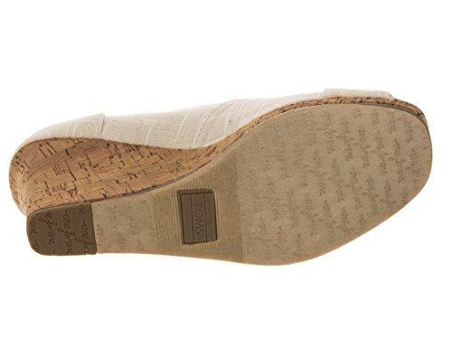 b205bf255e2 Toms Women s Classic Wedge Natural Linen Casual Shoe 5.5 Women US ...
