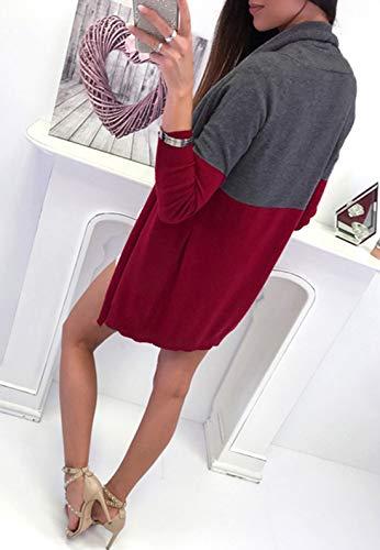 Gilets Chandail Manches Tops Automne Jeune Slim Femmes Casual Mode Cardigan Outwear Simple Longues Manteau Fashion Printemps Coat Hauts Patchwork Pulls Veste wvCZzxqp