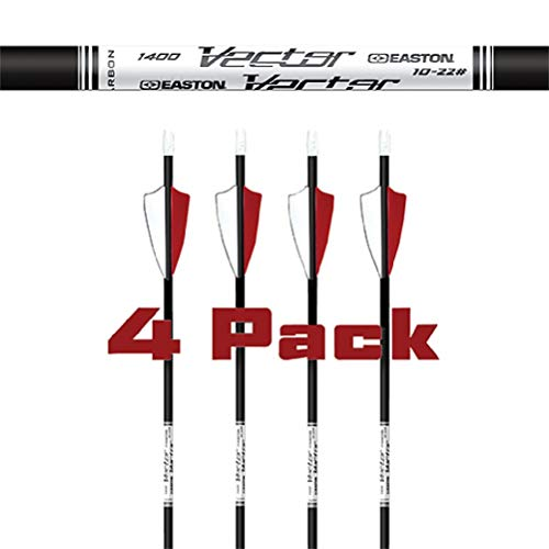 Easton Vector Arrows 2 in. Feathers 4 PK. Black, 1000