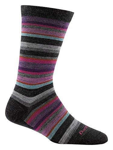 Darn Tough Sassy Stripe Crew Light Socks - Women's Black Small