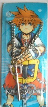 Kingdom Hearts Keyblade Silver Necklac