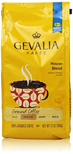 Gevalia Roast and Ground Coffee, House Blend, 12 Oz