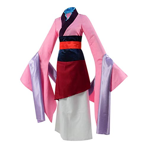 Beauty Costume Chinese Heroine Hua Mulan Dress Halloween Outfit -