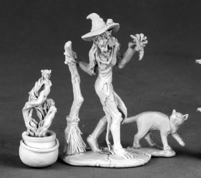 Witch, Cauldron and Cat