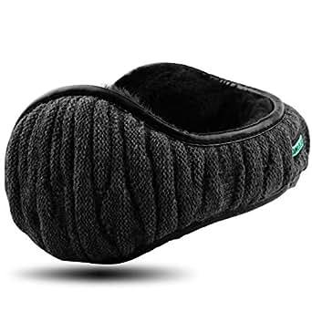 Dimples Excel Ear Muffs Ear Warmers Winter Earmuffs Men Women Foldable Size Adjustable (1pack/, Black)
