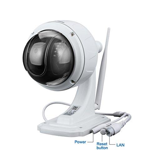 FLOUREON Cámara IP Seguridad CCTV inalámbrica 4XZOOM IR-Cut 1080P WiFi 2.8-12mm H.264 TF Micro SD Card IP66 Dome PTZ IP Camera EU: Amazon.es: Bricolaje y ...