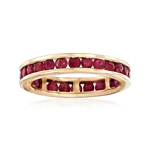 Ross-Simons 1.70 ct. t.w. Channel-Set Ruby Eternity Band in 14kt Yellow Gold ()