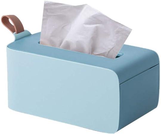 XD E-commerce Cajas para pañuelos de Papel Caja para pañuelos de Papel Caja de pañuelos Cubre rectángulo Caja de pañuelos Cubre Cubo Soporte de Caja de pañuelos Blue: Amazon.es: Hogar