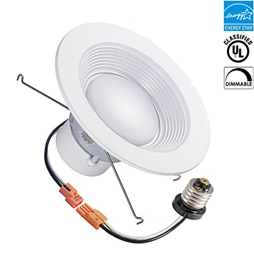 4-inch LED Gimbal Recessed Retrofit Downlight, 10w, 3000k, 650 lumens, CRI 91, Warm White, Round Lens, ETL listed, EnergyStar, Dimmable