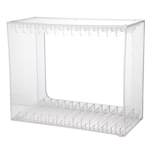 Stackable Clear Plastic DVD Holder - holds 14 standard DVD cases