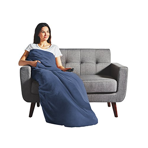 Sunbeam Heated Throw Blanket | Dual Pocket Microplush, 3 Hea