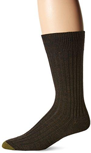 - Gold Toe Men's 3-Pack Windsor Wool Dress Sock bark Shoe Size: 6-12.5 / Sock size 10-13