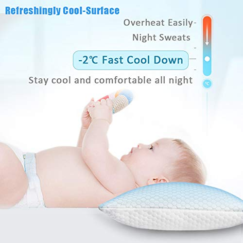 ZPECC Toddler Cooling Pillow Case for Sleeping, Breathable Soft Ice Silk Pillowcase for Night Sweats and Hot Flashes, Q-Max 0.4 Cooling Cover With Hidden Zipper, Machine Washable, Toddler 14\