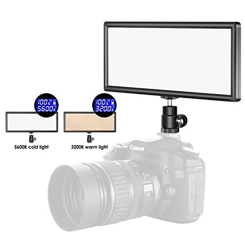 Neewer LED Light Panel On Camera Video Light 3200K-5600K for Canon Nikon Sony, CRI 97+ (Battery NOT Included) by Neewer