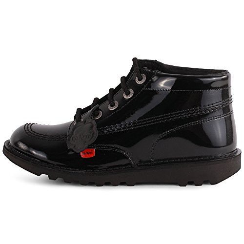 Patent Womens Eu 42 Youth Kick Black Ankle Leather Kickers Boots Hi Aw8gqcf6